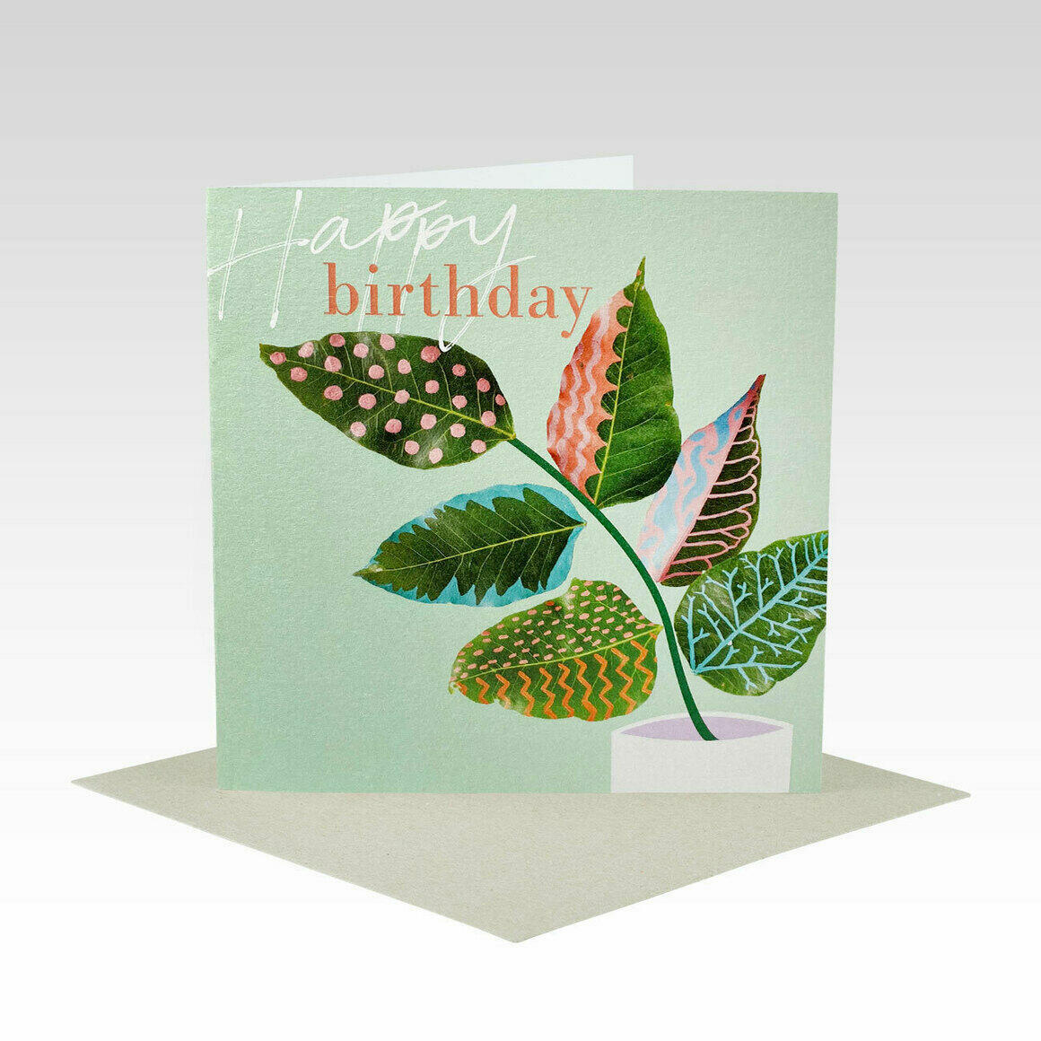 HB081 – Happy Birthday Painted Leaves   Trada Marketplace