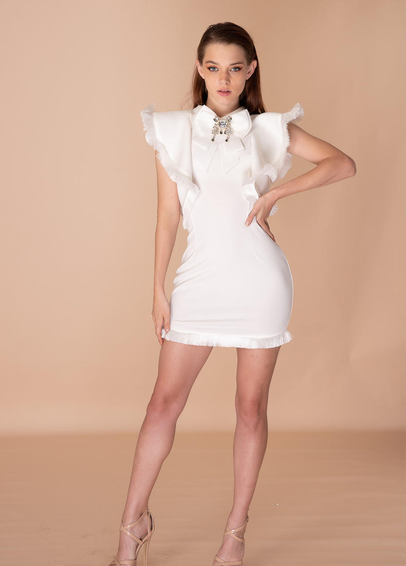 Might Make An Exception For You Crystal Neck Piece Dress | Trada Marketplace