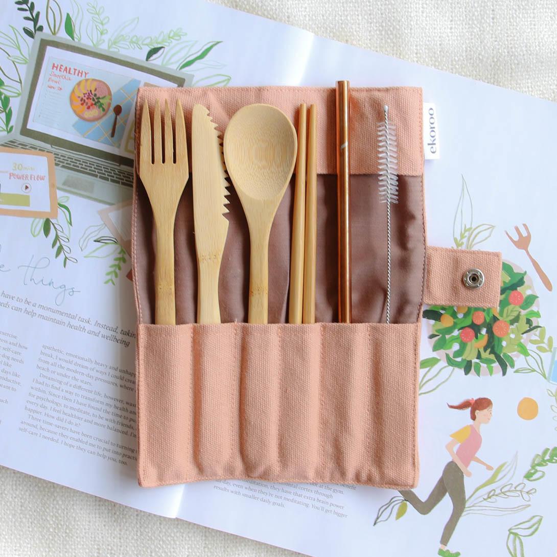 Reusable Travel Cutlery Set   Trada Marketplace