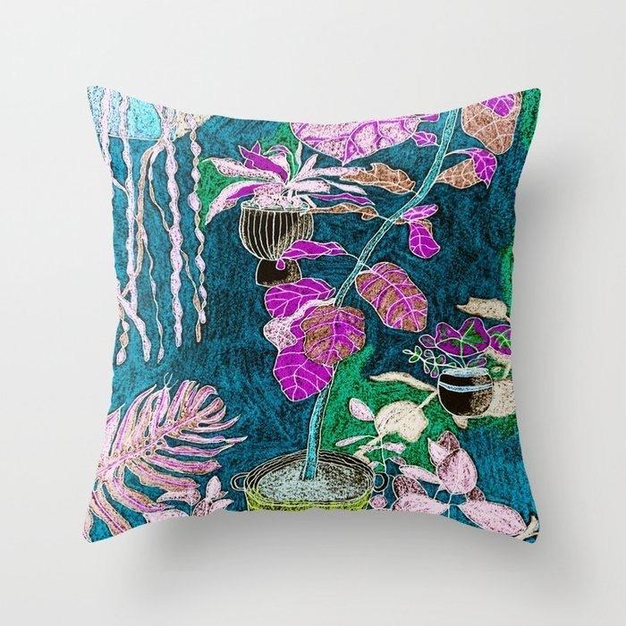 Indoor Jungle 1 Throw pillow  | Trada Marketplace