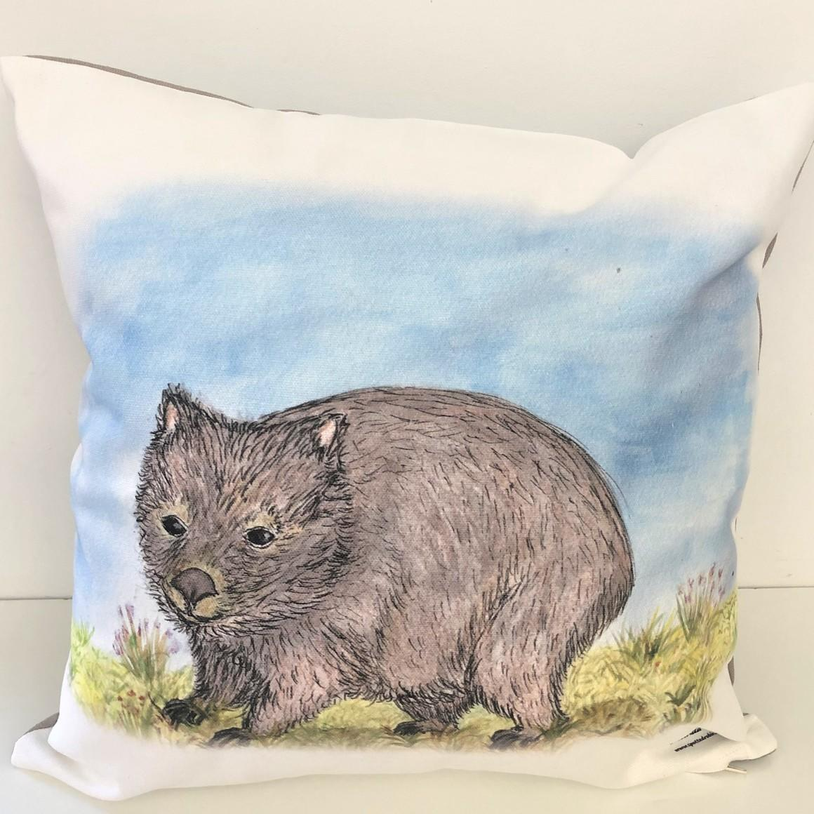 Cushion Cover - Hatty the Wombat   Trada Marketplace