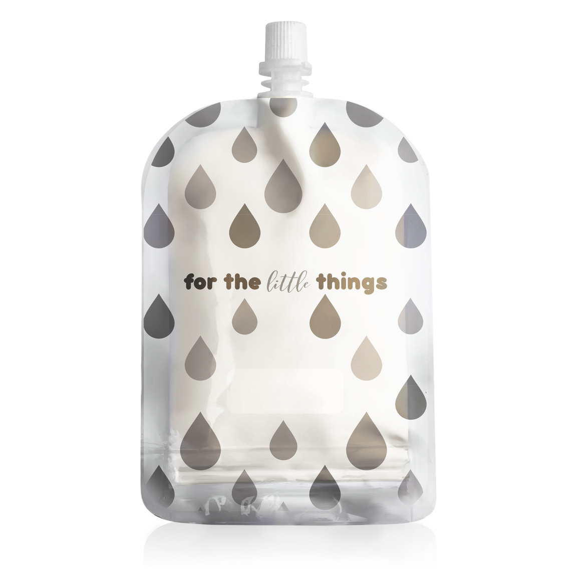 150ml Reusable Food Pouch - Monochrome Print (10 pack) | Trada Marketplace