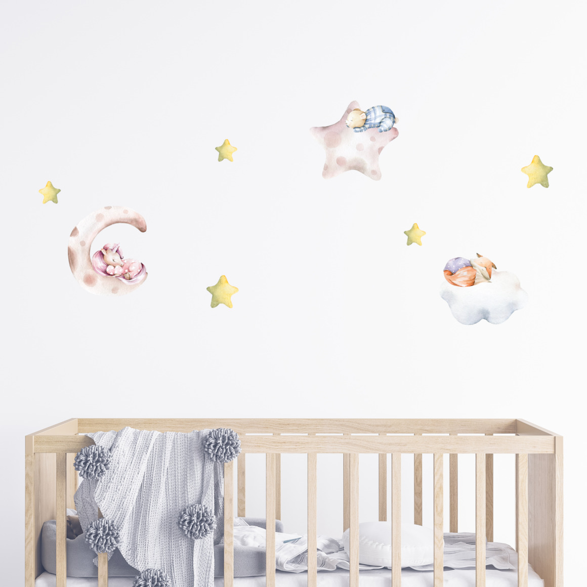 Fabric wall decals - Dream in the clouds   Trada Marketplace