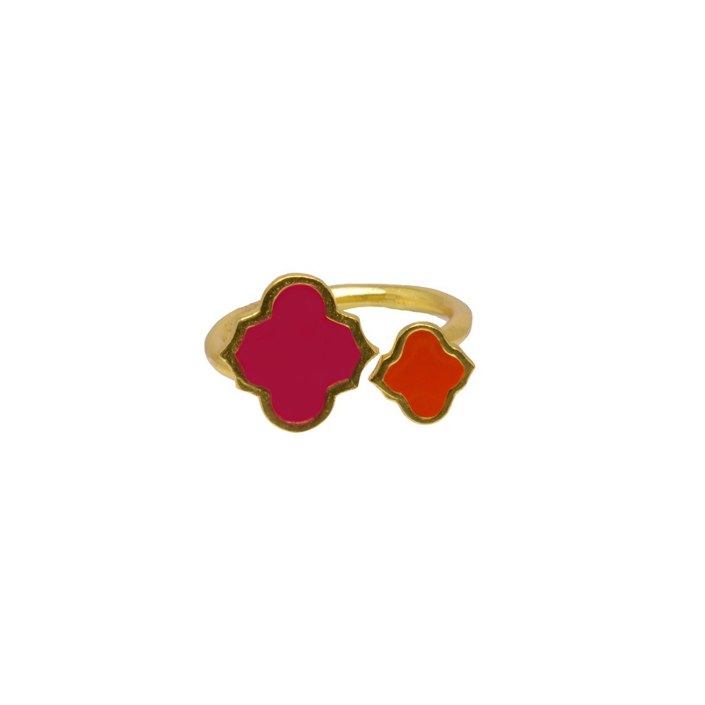 Arabesque Ring Hot Pink /Orange   Trada Marketplace