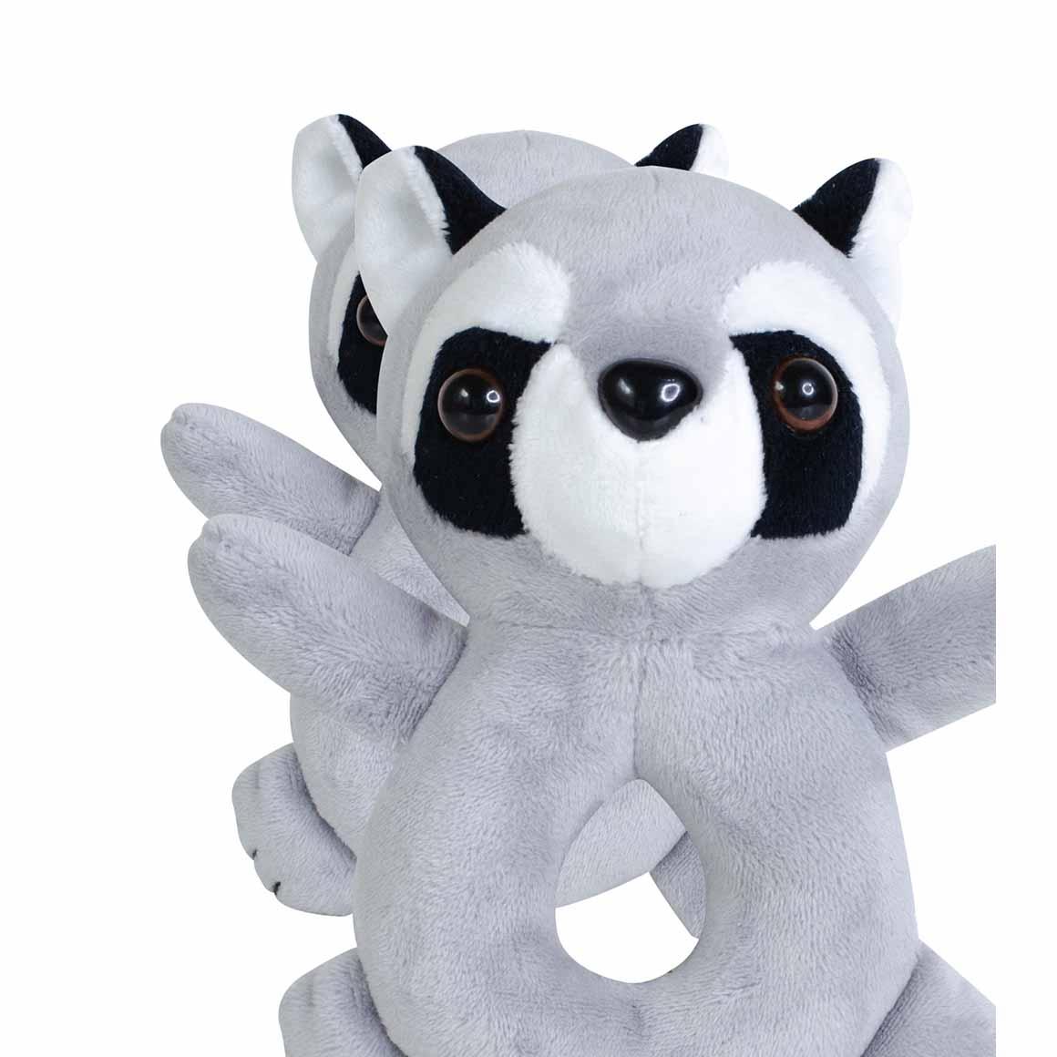 BibiBaby Cuddle Rattle - Ricky Racoon   Trada Marketplace