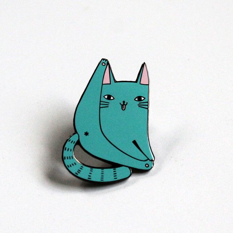 Blue Cat Pin   Trada Marketplace