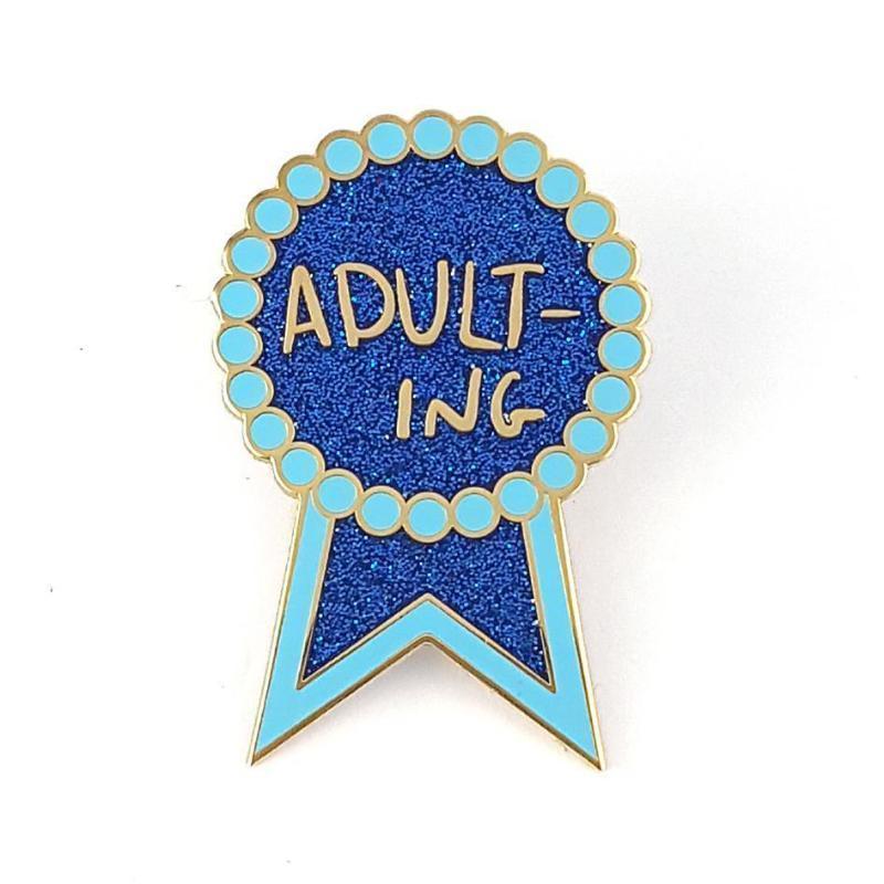 Adulting Lapel Pin   Trada Marketplace