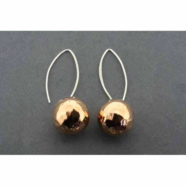 16mm copper ball battered earrings | Trada Marketplace