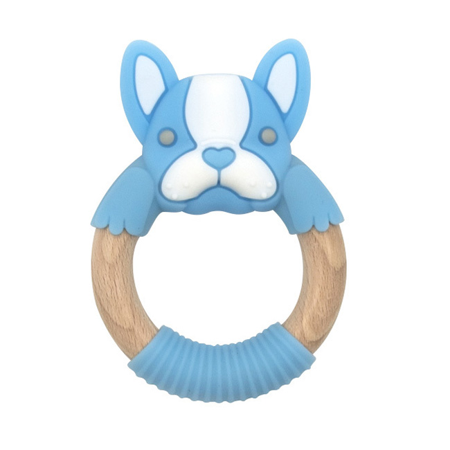BibiBaby Teething Ring - Freddie Frenchy - Blue and White   Trada Marketplace