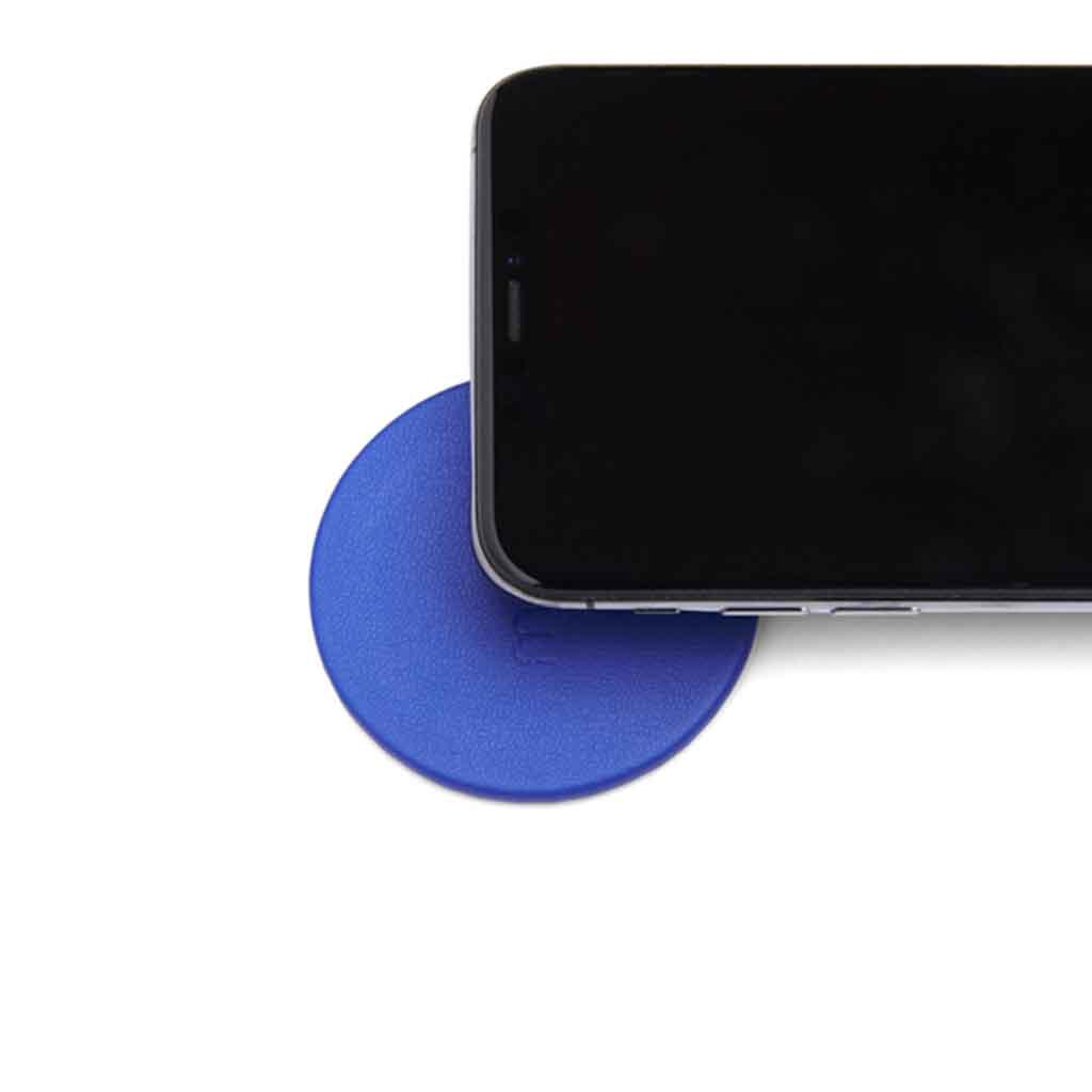 Moon Wireless Charging Pad Imitation Leather Blue | Trada Marketplace
