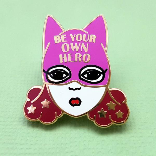 Be Your Own Hero Lapel Pin   Trada Marketplace