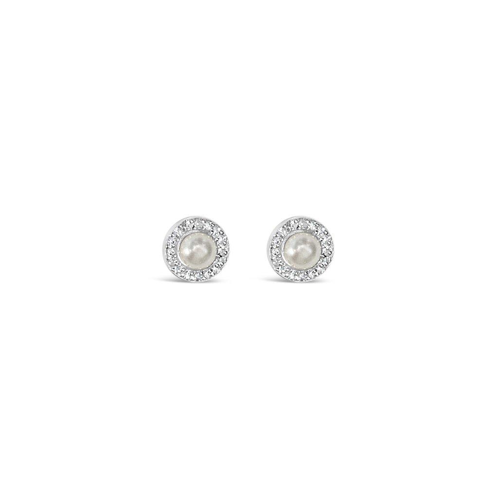 Pearl Cz Halo Earrings | Trada Marketplace