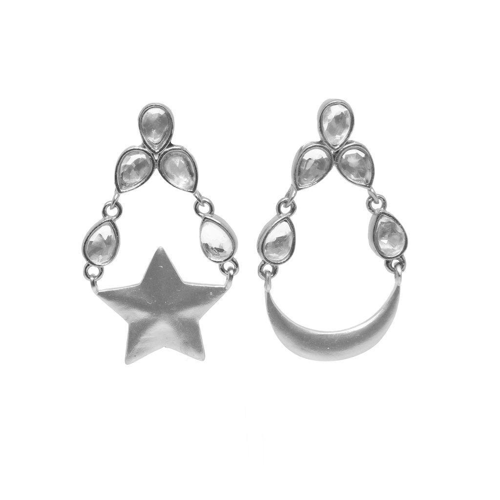 Brahma Earrings Silver   Trada Marketplace