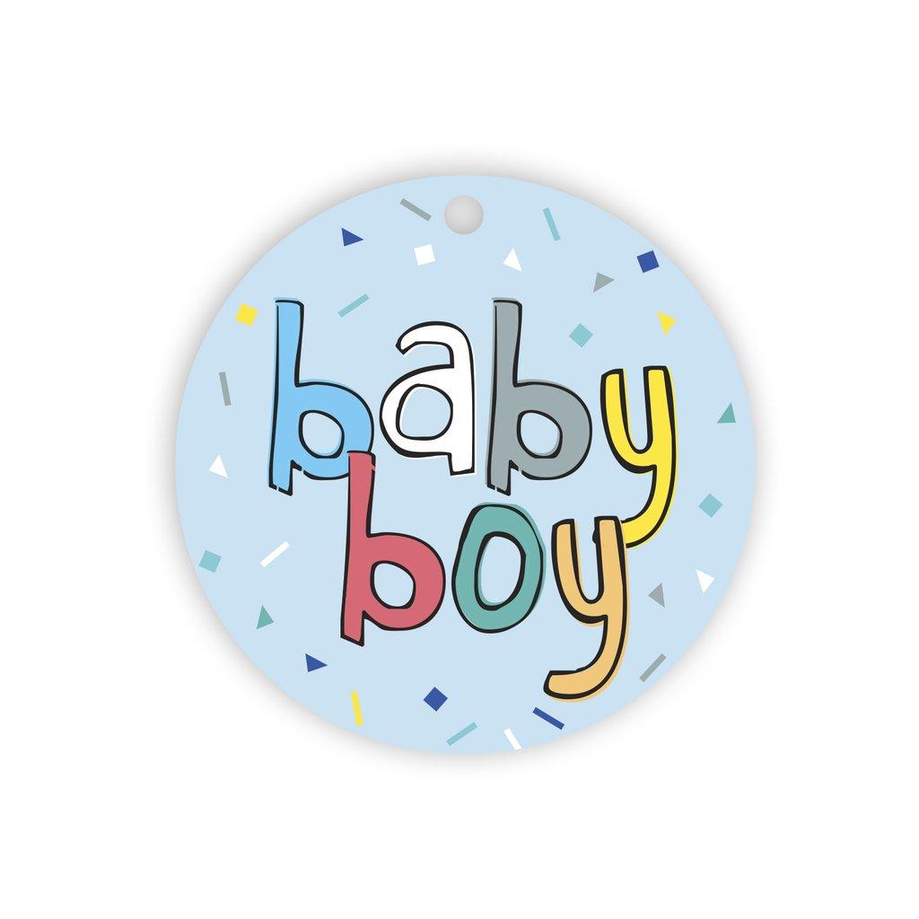 Baby boy confetti gift tag   Trada Marketplace