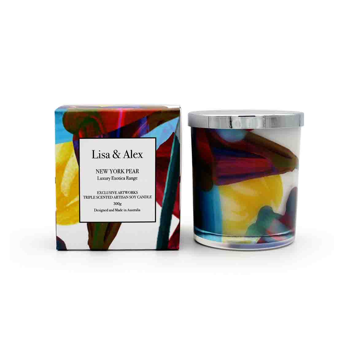 Lisa & Alex Hand Poured Pure Natural Soy Candle NEW YORK PEAR 300g | Trada Marketplace