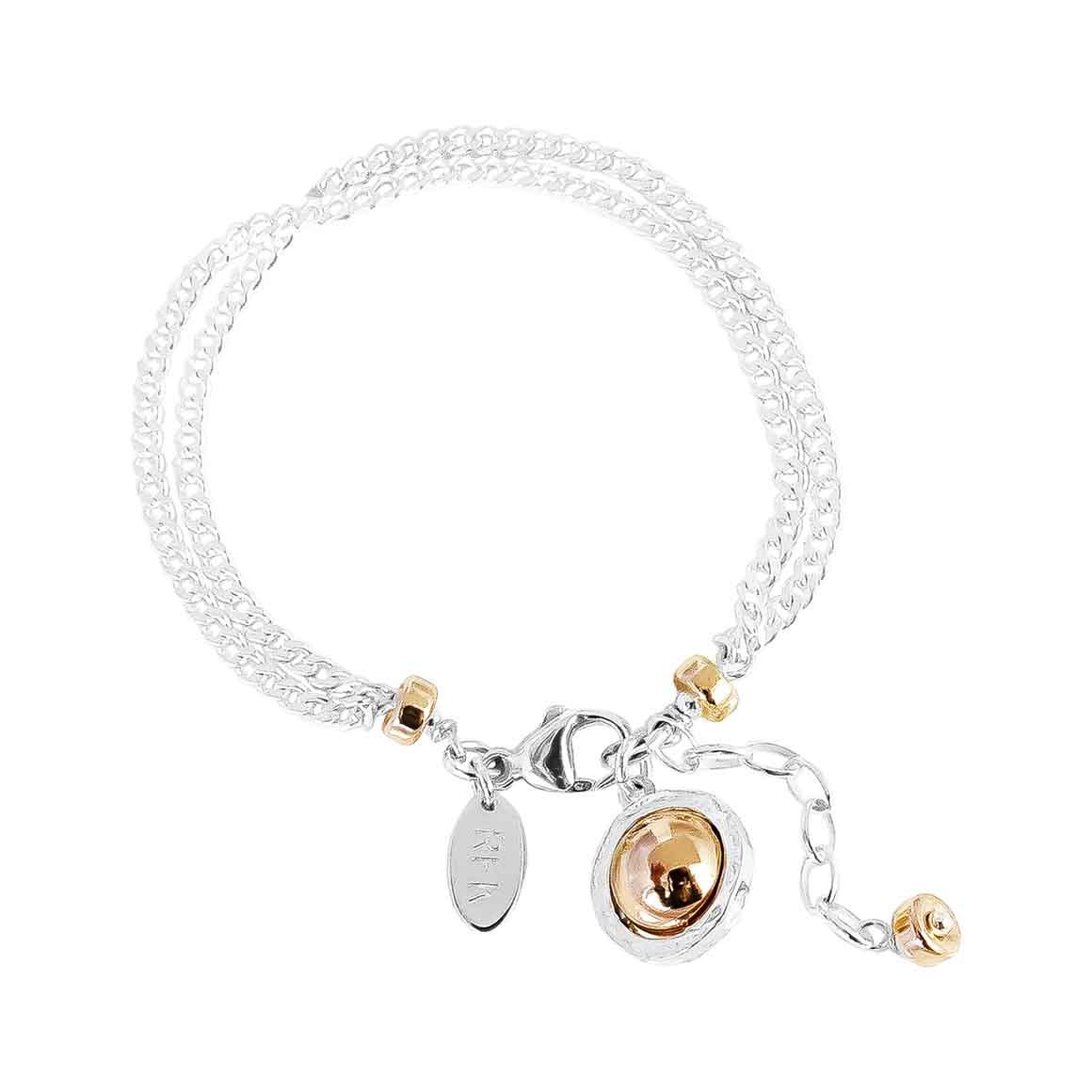 Atticus Double Statement Chain Bracelet | Polished Rose Detail | Trada Marketplace