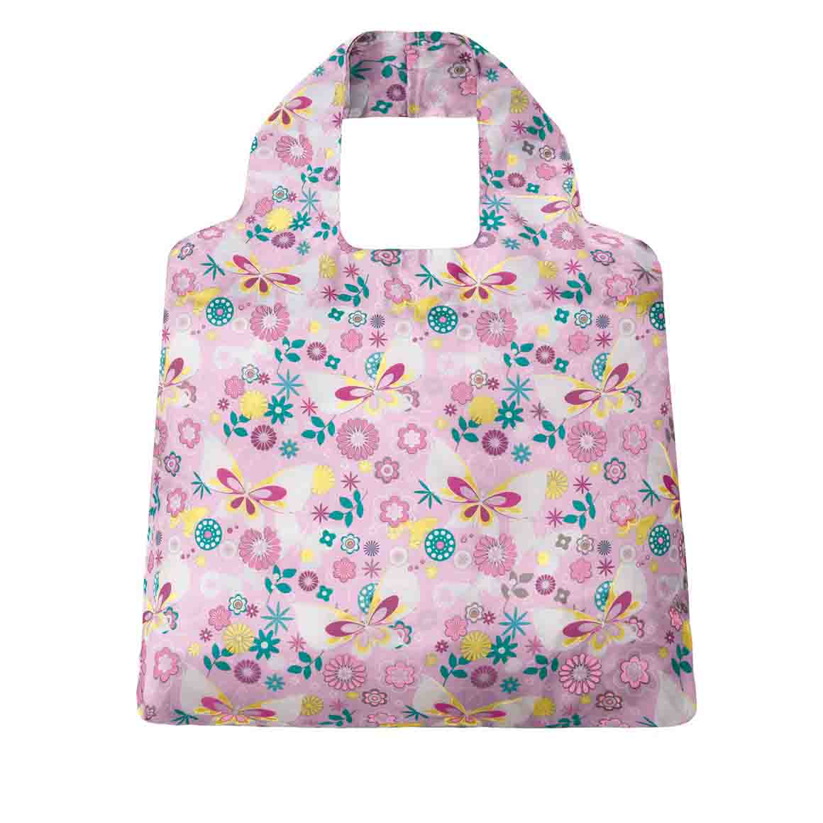 Pink Flutterby SAKitToMe Foldable Shopping Bag  | Trada Marketplace