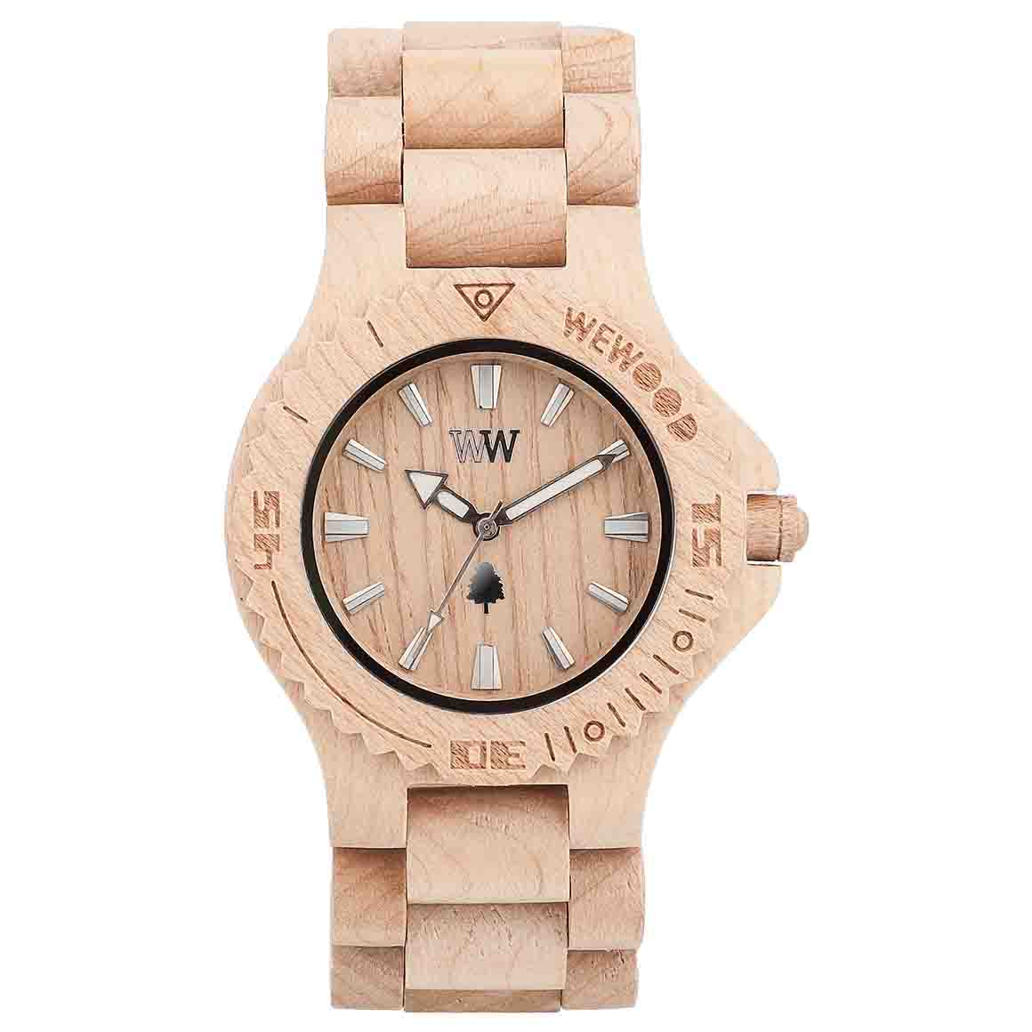 Date Beige Wood Watch   Trada Marketplace