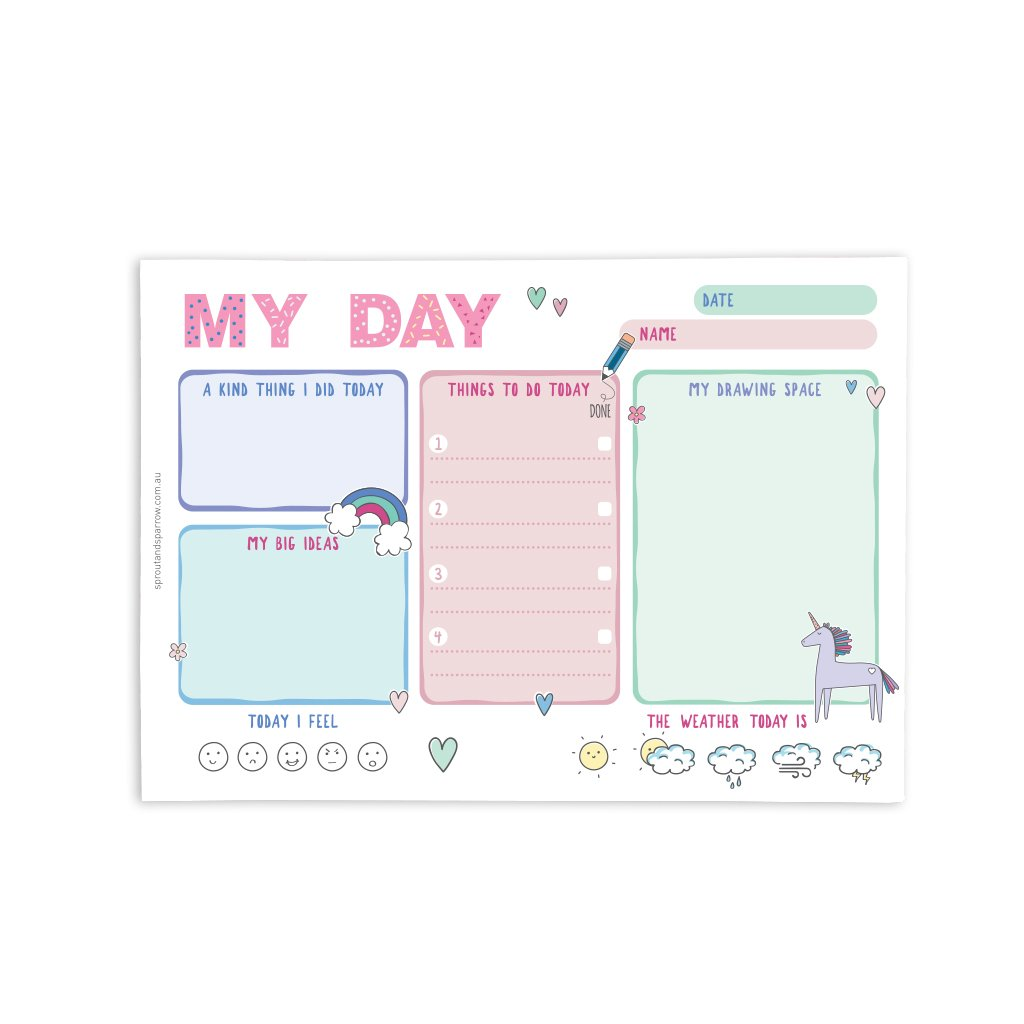 My day Planner Notepad Pink   Trada Marketplace