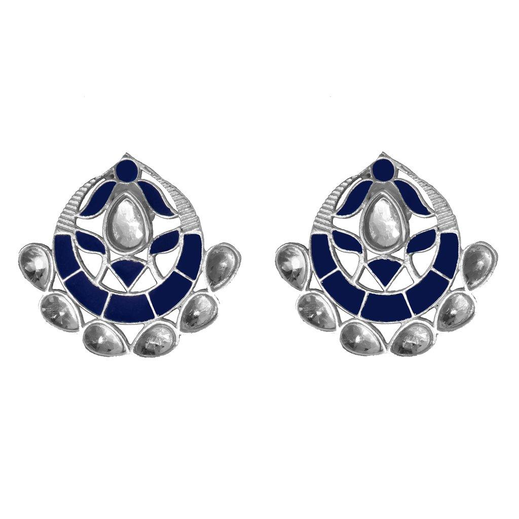 Asra Earrings Navy   Trada Marketplace