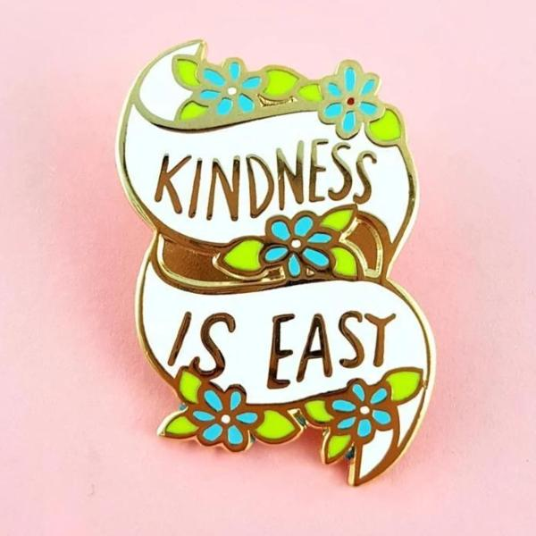 Kindness Is Easy Lapel Pin   Trada Marketplace