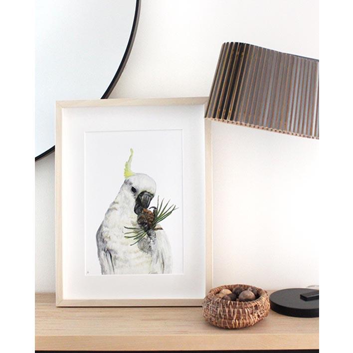Cockatoo Print + Frame | Trada Marketplace