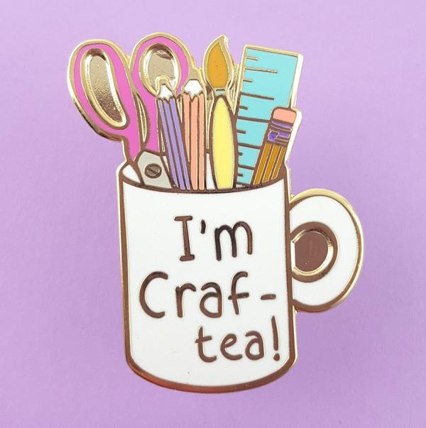 I'm Craft-Tea Mug Lapel Pin   Trada Marketplace