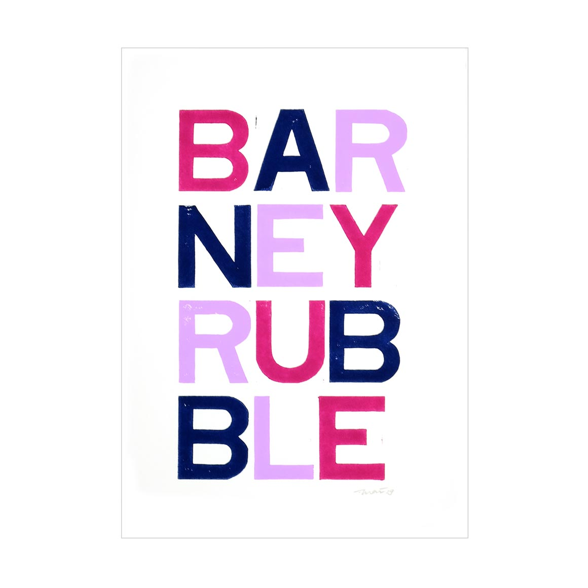 Barney Rubble Poster   Trada Marketplace