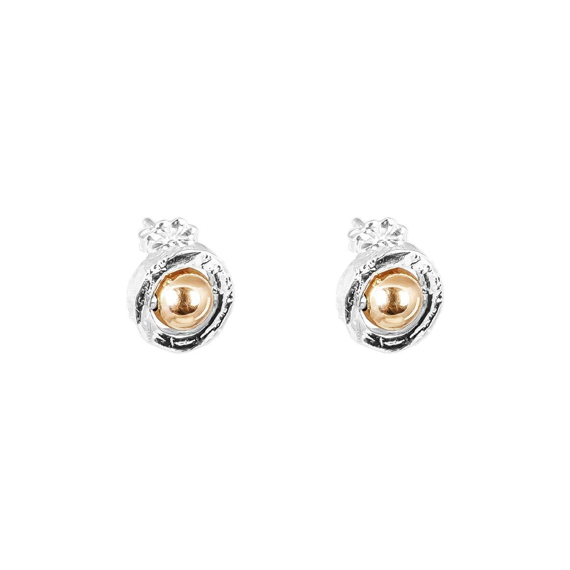 Atticus Fine Stud Earrings | Polished Rose Detail | Trada Marketplace