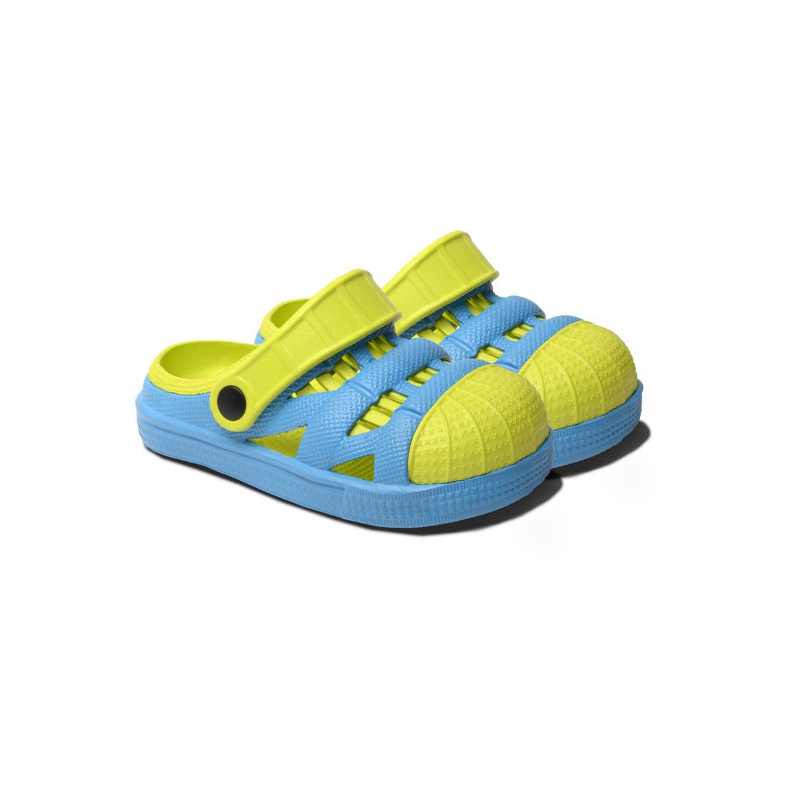 Kids Lightweight Sandals - Blue/Lime | Trada Marketplace
