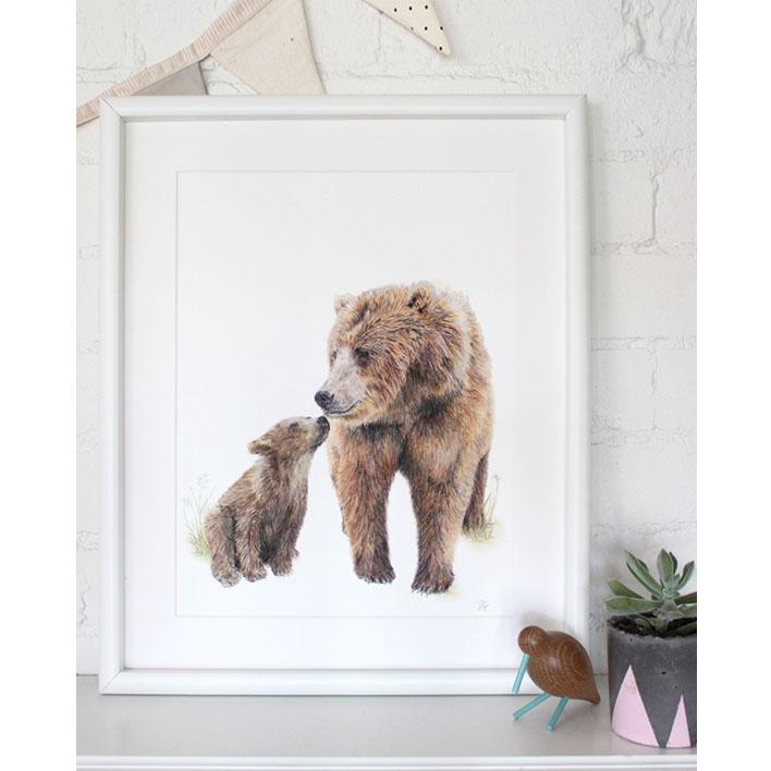Bear Print + Frame | Trada Marketplace