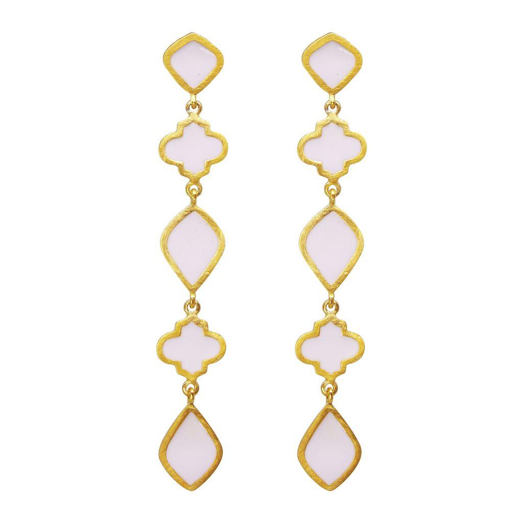 Chandra Drop Earring Blush   Trada Marketplace