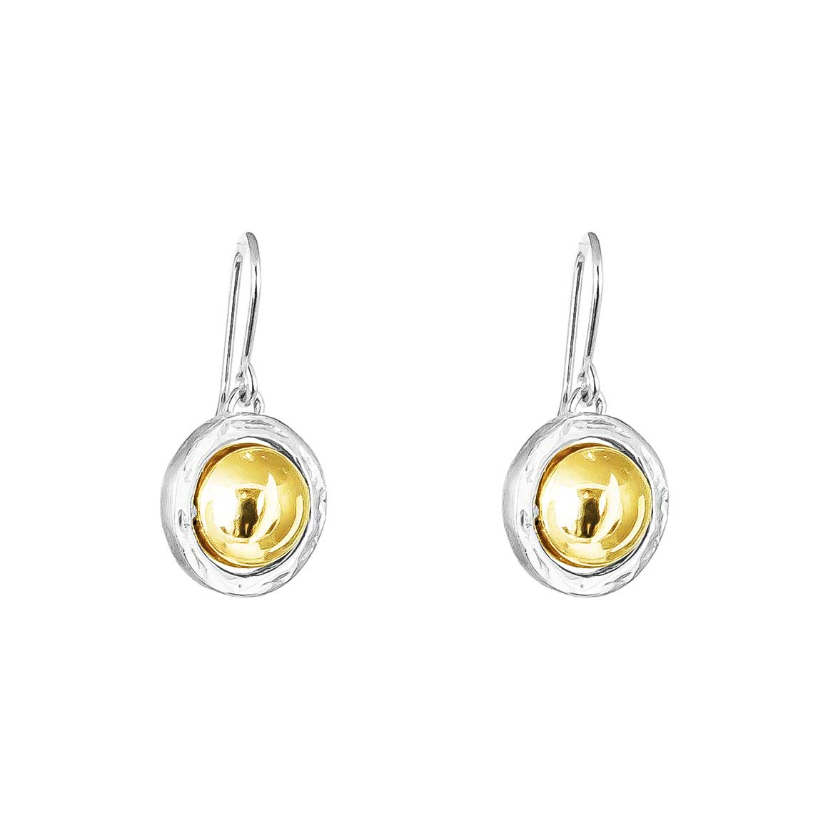 Atticus Large Drop Earrings | Polished Gold Detail | Trada Marketplace