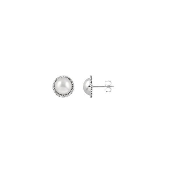 Rope Edge Ball Earrings | Trada Marketplace