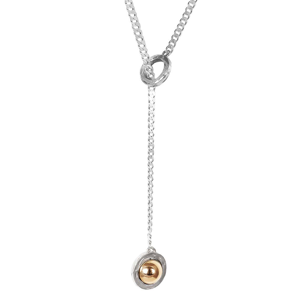 Atticus Large Charm Lariet Necklace | Polished Rose Detail | Trada Marketplace