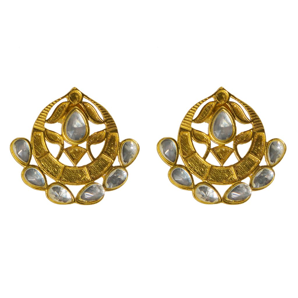 Asra Earrings Gold   Trada Marketplace
