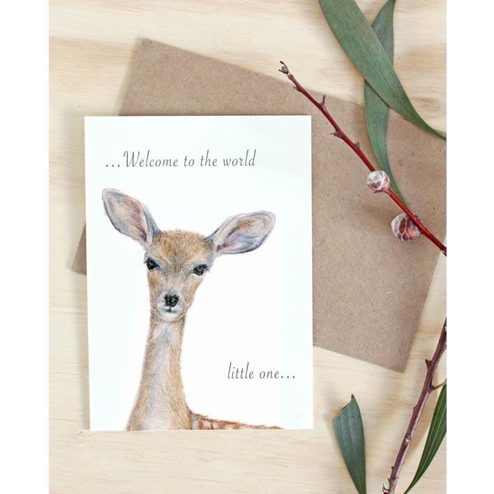 Deer Newborn Card  | Trada Marketplace