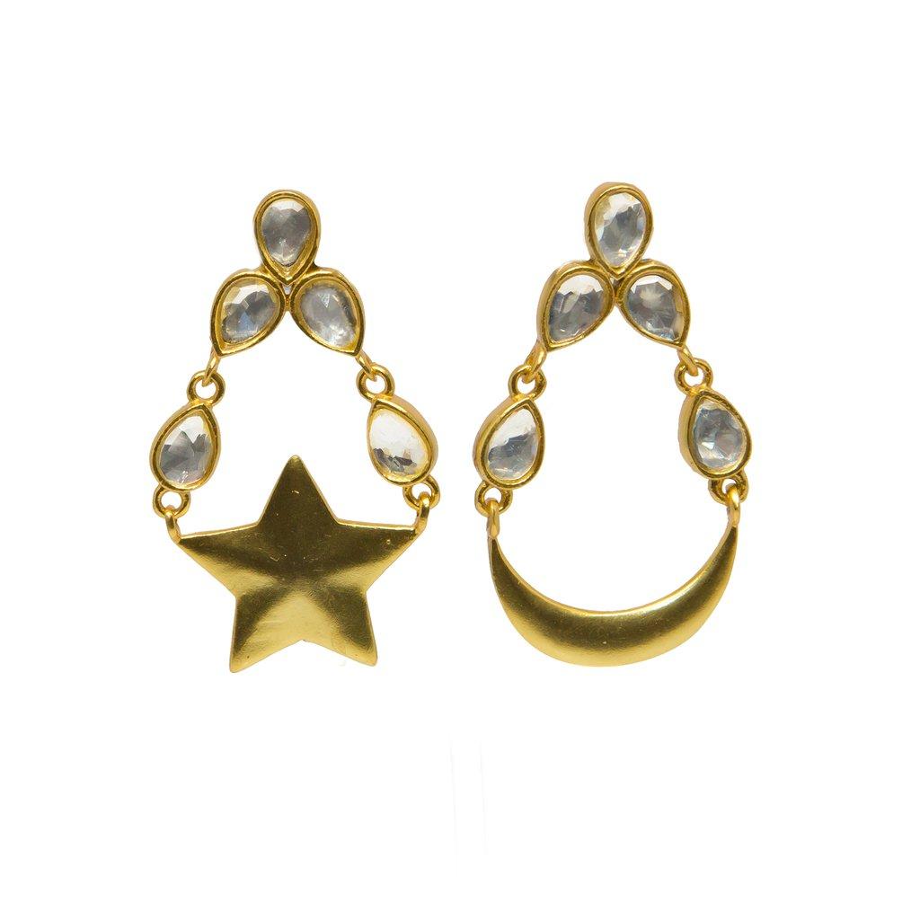 Brahma Earrings Gold   Trada Marketplace