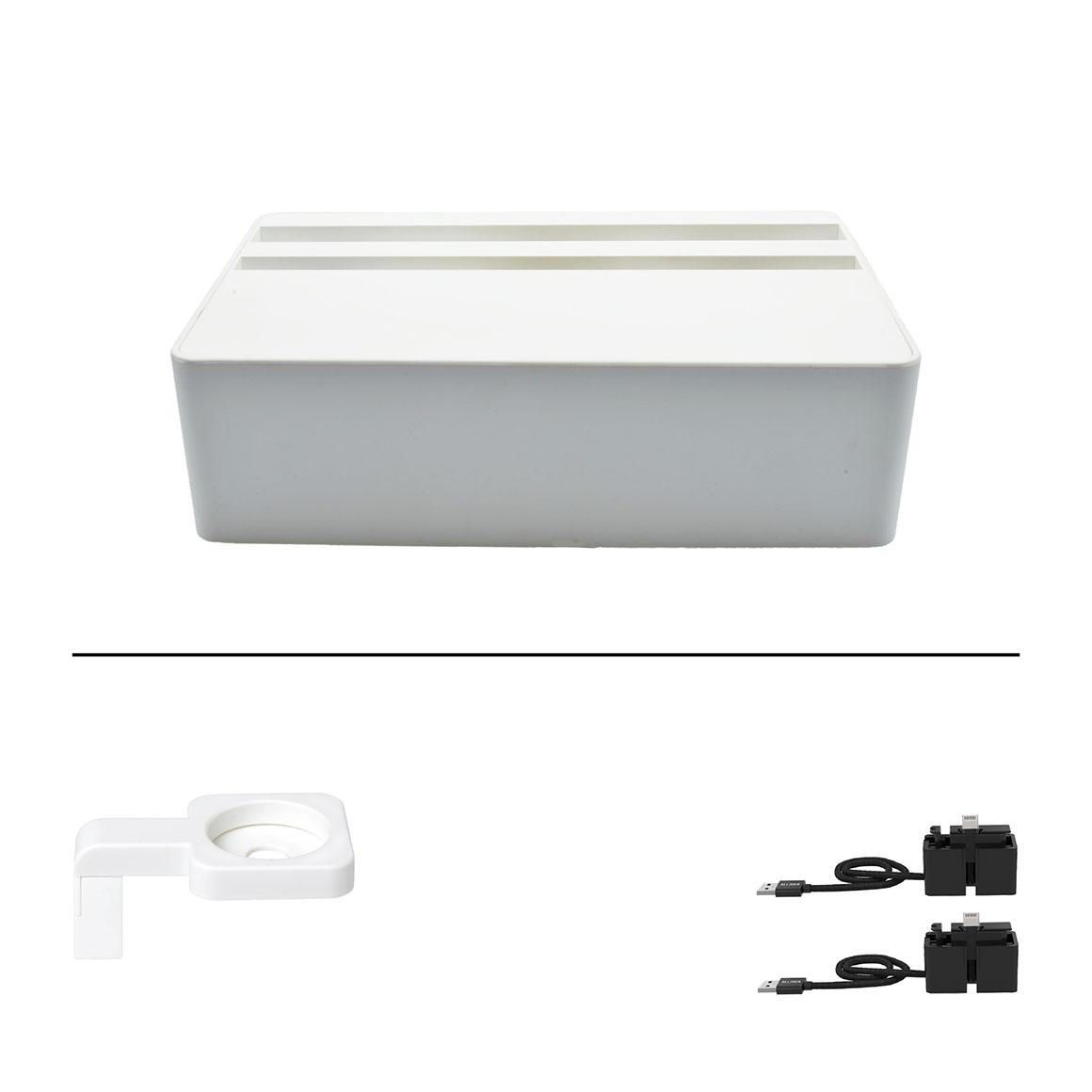 ALLDOCK HybridX Compact White + 2x MFi Cable + White Apple Watch Mount    Trada Marketplace