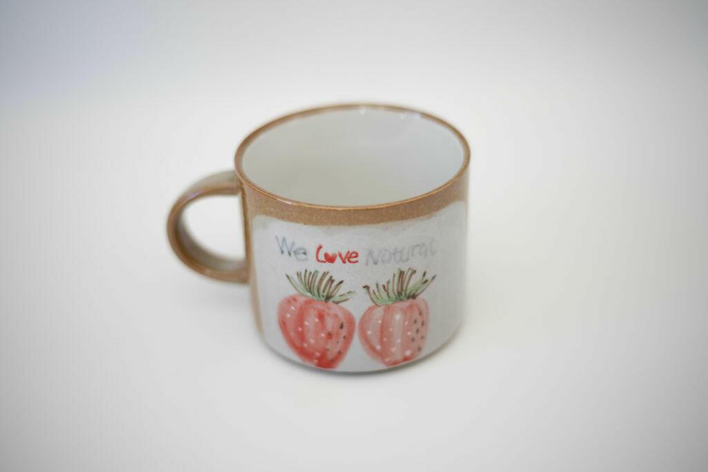 We Love Natural Mug-Strawberry   Trada Marketplace