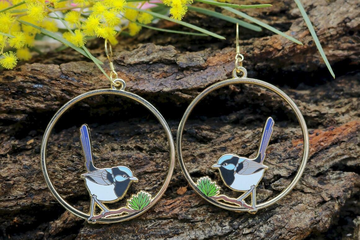 Superb Fairy Wren Earrings | Trada Marketplace
