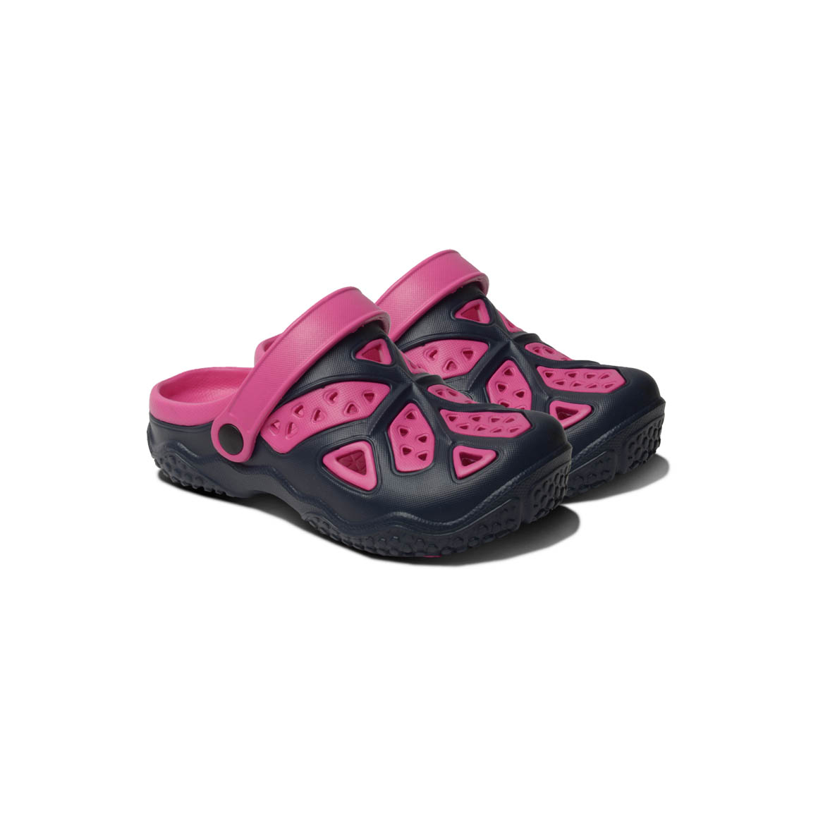 Kids Lightweight Clogs - Pink/Navy | Trada Marketplace