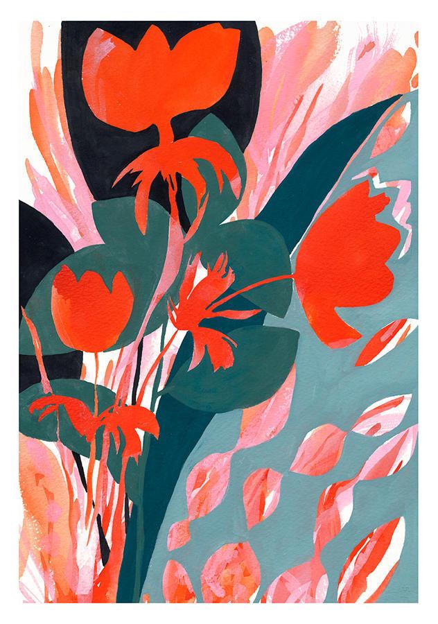 Fire Poppies Print | Trada Marketplace