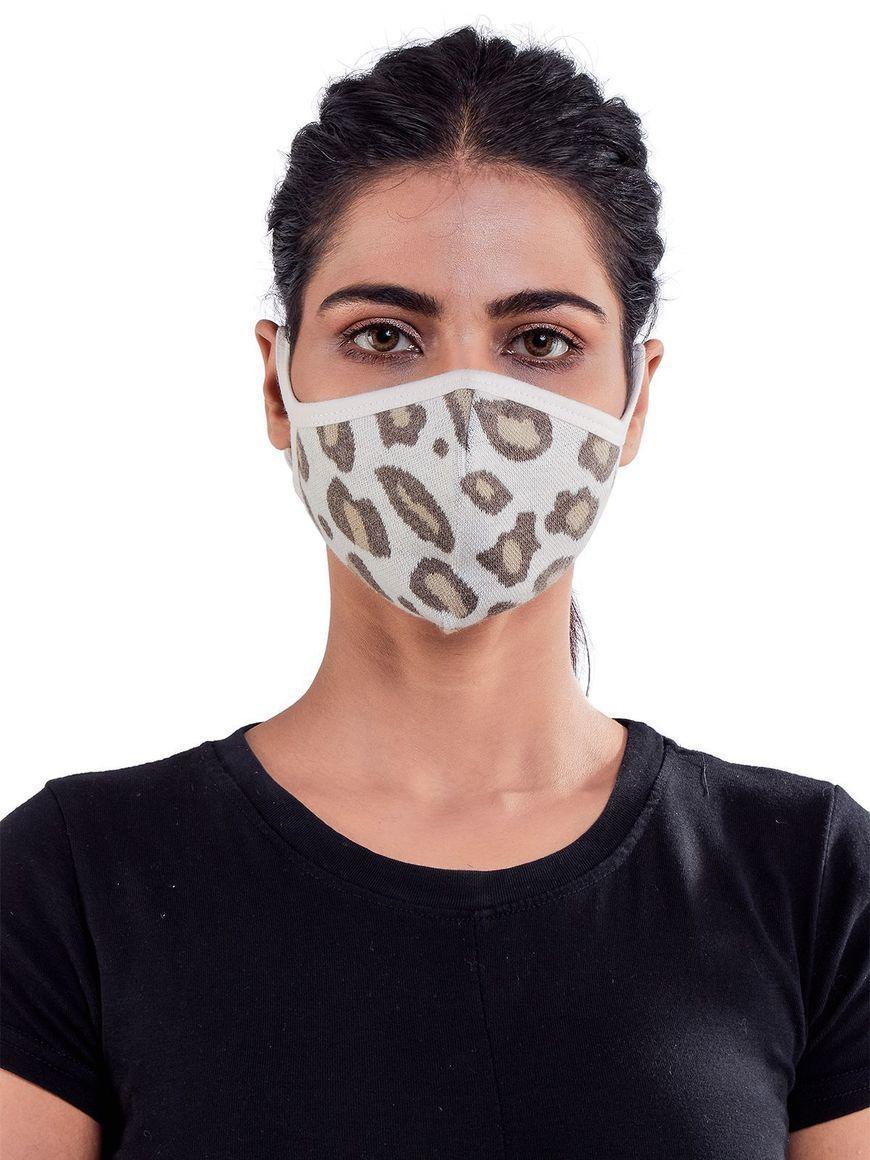 Leopard-jacquard-three-layer-cotton-womens-mask | Trada Marketplace
