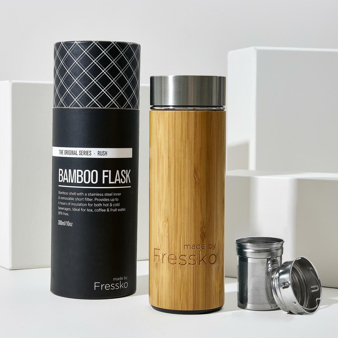 Fressko RUSH 300ml  Bamboo Flask + 2 in 1 infuser | Trada Marketplace