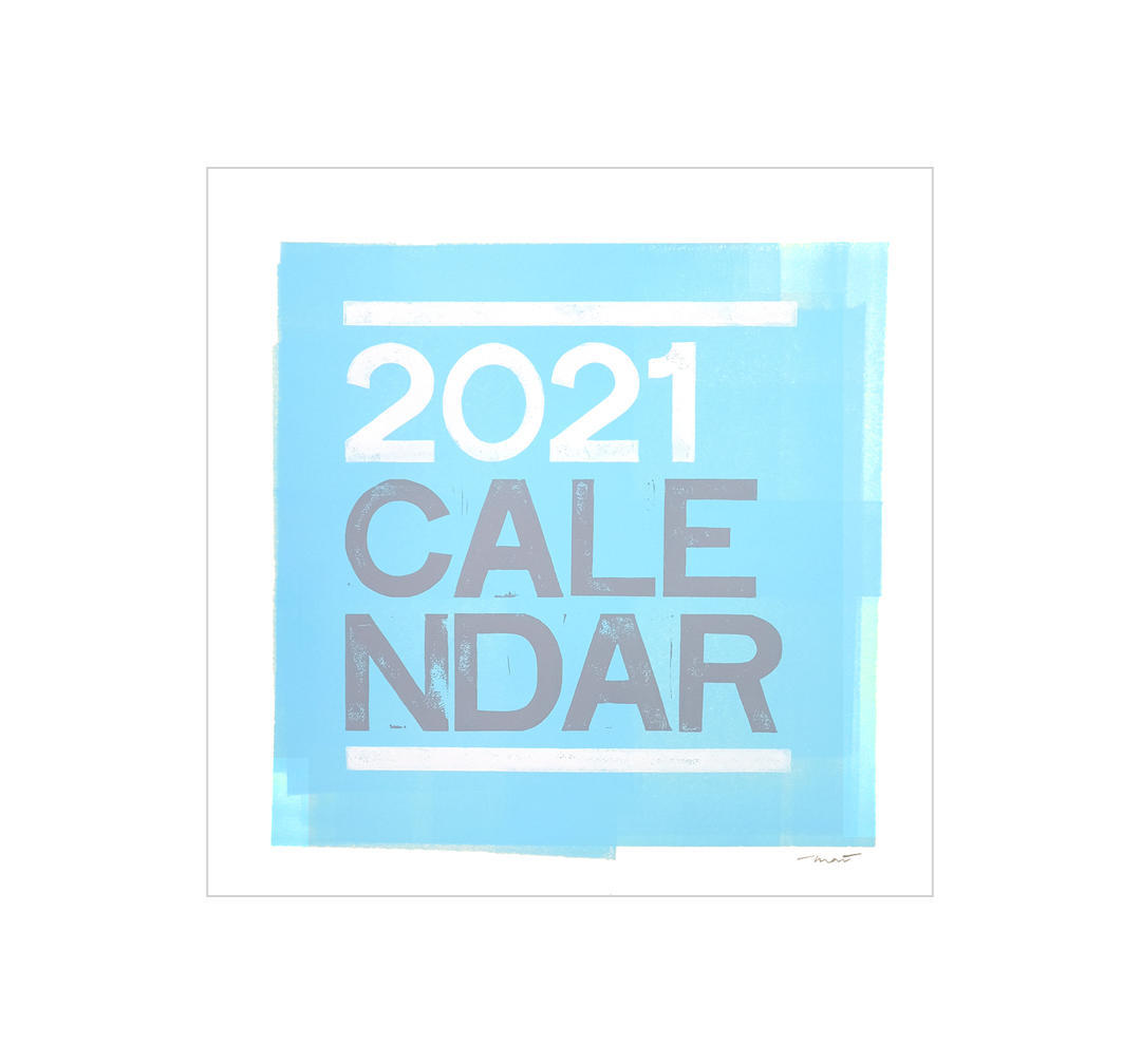 2021 Typographic Calendar Small   Trada Marketplace