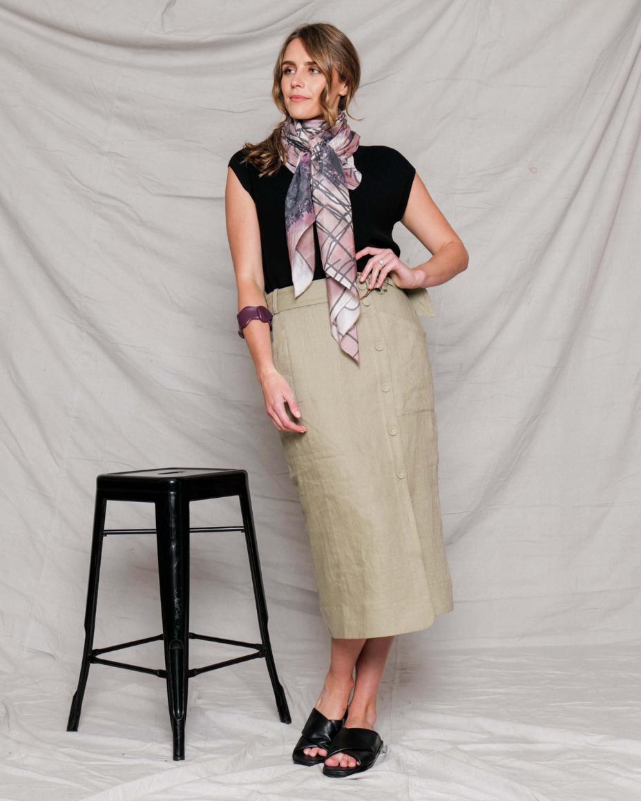 Silk-cotton scarf | METTLE | Trada Marketplace