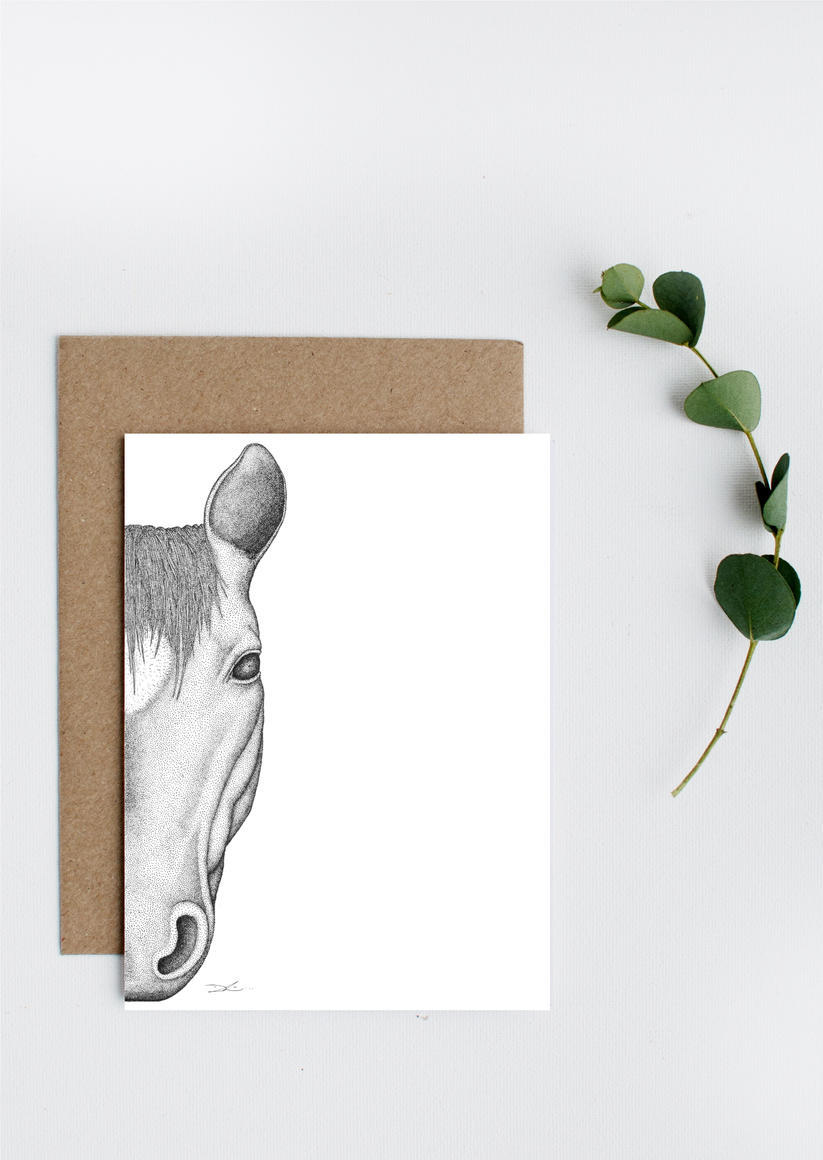 Haley the Horse Greeting Card   Trada Marketplace