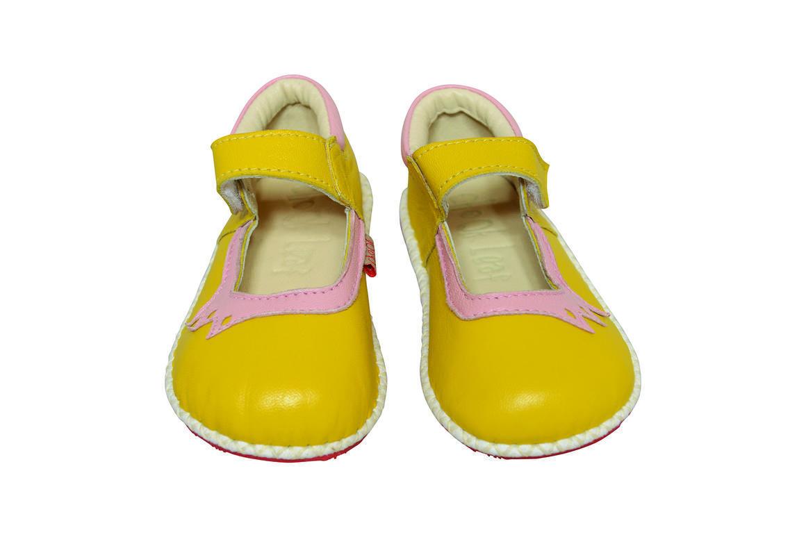 Crown Shoe yellow/pink   Trada Marketplace