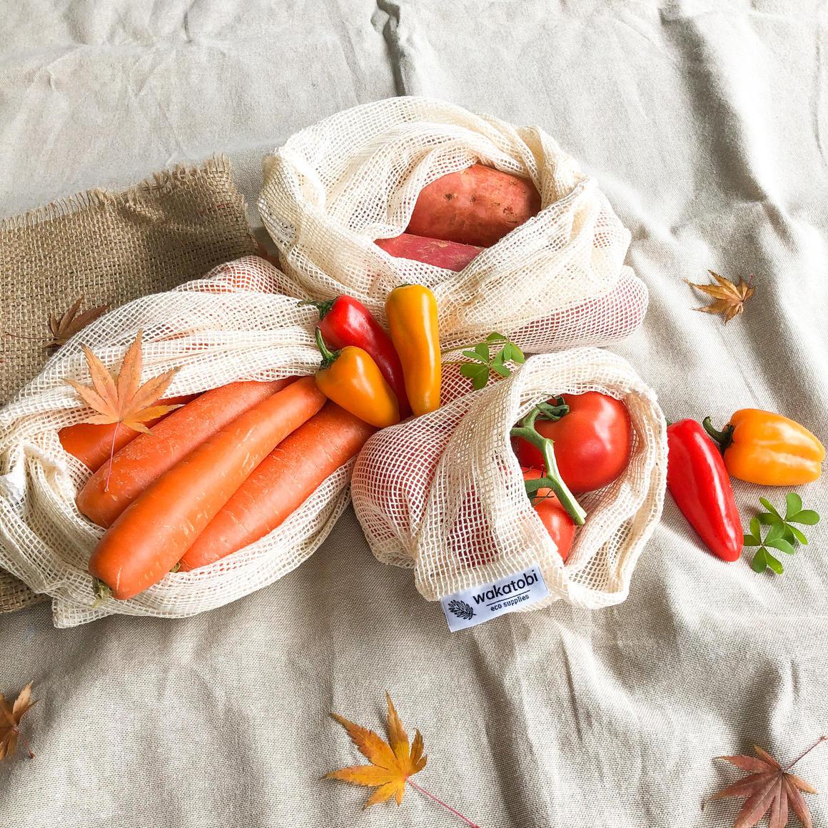 Mesh Produce Bag - Pack of 4pcs   Trada Marketplace